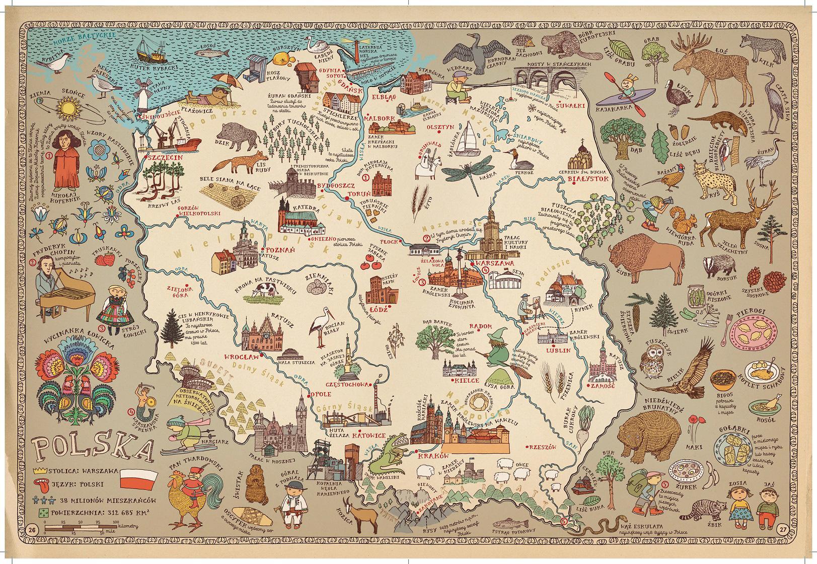 Mapa Polsko Mapa Turisticka